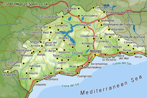 Map of Malaga